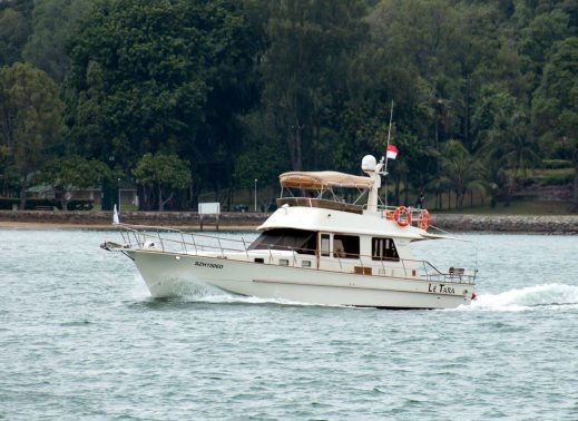 Cruise in style in Singapore aboard 45' elegant motor yacht