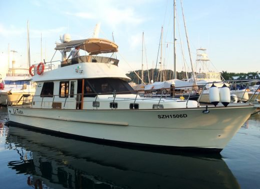 Discover Sentosa Cove surroundings on this Custom Custom boat