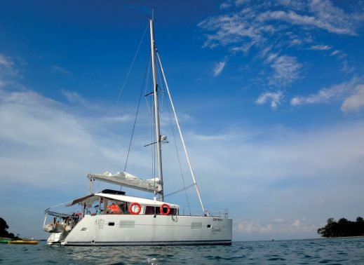 Explore Singapore aboard 46' luxurious power catamaran