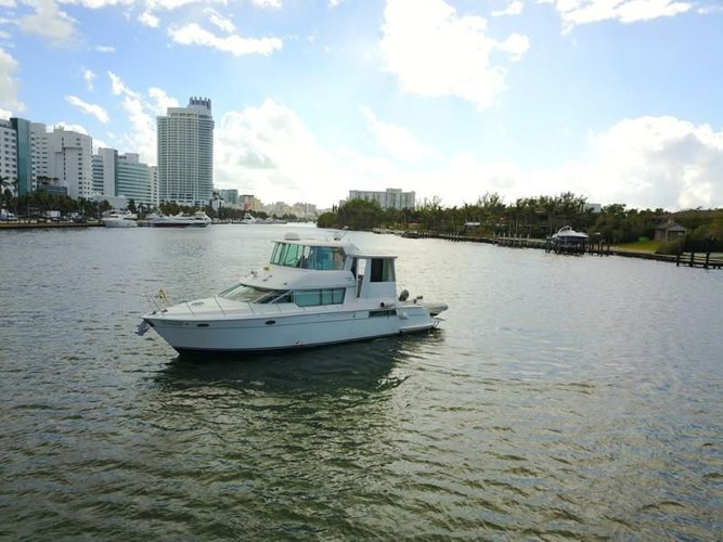 Charter an awesome motor yacht on Miami Beach, Florida