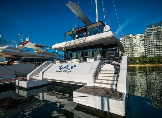 Discover Sentosa Cove surroundings on this Custom Custom boat