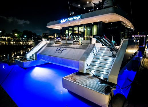 This 68.0' Custom cand take up to 50 passengers around Sentosa Cove