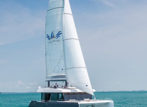Up to 50 persons can enjoy a ride on this Catamaran boat