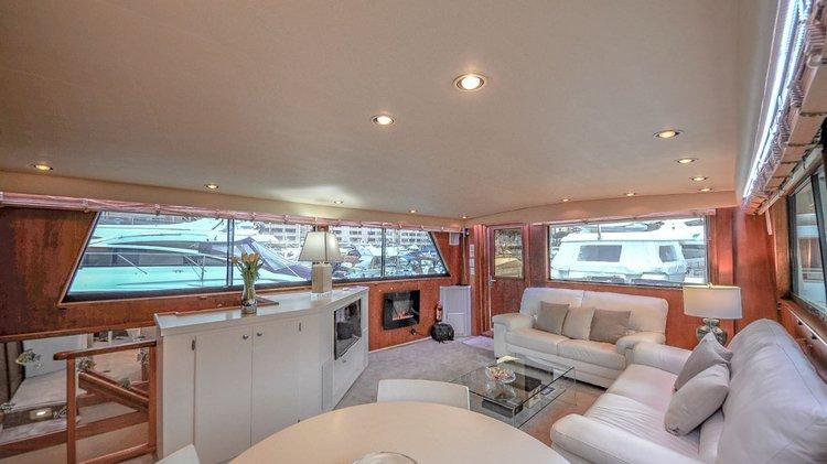Motor yacht boat rental in Fontvieille Harbour, Monaco