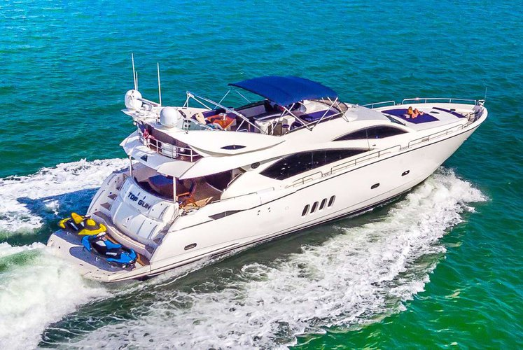 This 82.0' Sunseeker cand take up to 8 passengers around West Palm Beach