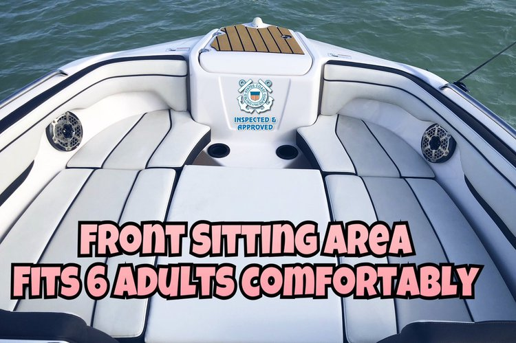 Up to 6 persons can enjoy a ride on this Bow rider boat