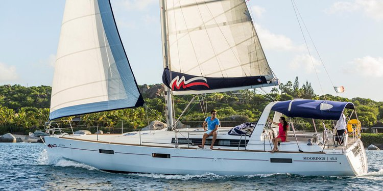 Cruise in style aboard fabulous Beneteau Moorings 45.3