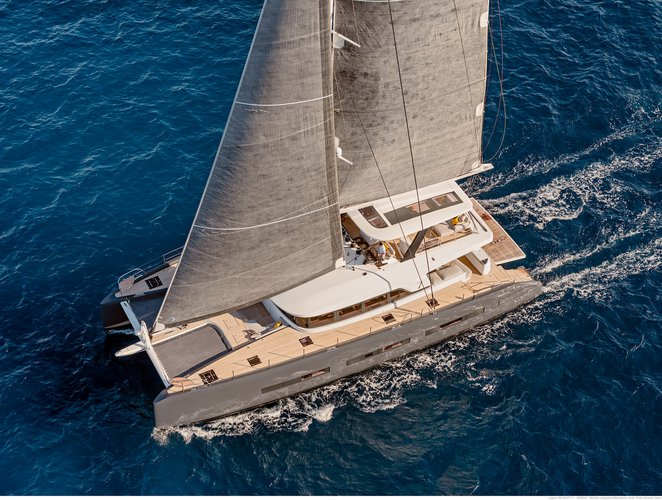 Catamaran boat rental in Hercule Monaco Cruise Harbor,