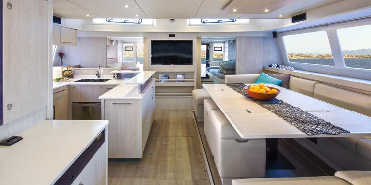 Discover St. John surroundings on this 5800 Legacy Moorings boat