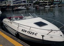 Splendid 21' Cabin Cruiser available for charter in Singapore