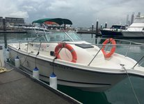 Charter a 26' Cabin Cruiser in Sentosa Cove, Singapore