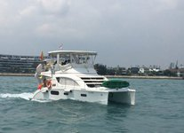 Set sail in Sentosa Cove, Singapore aboard 39' Power Cat