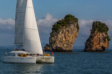 Enjoy a week on a  56' cruising cat to explore the Andaman Sea