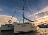 Indulge in spacious deck space and luxurious interior onboard 63' Cat