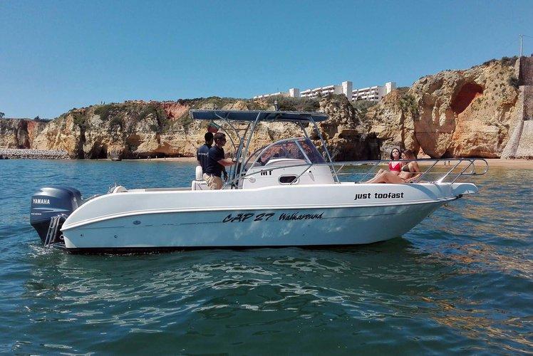 Walkaround boat rental in Marina de Lagos, Portugal