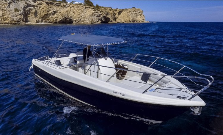 Motor yacht boat rental in Marina Ibiza, Spain