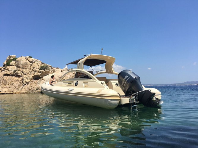 Up to 11 persons can enjoy a ride on this Rigid inflatable boat