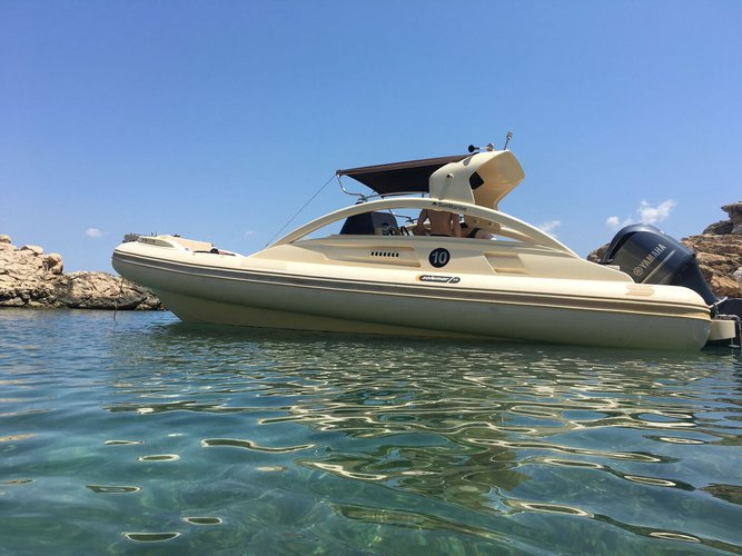 Rigid inflatable boat for rent in ibiza