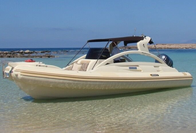 Rigid inflatable boat rental in Marina Ibiza, Spain