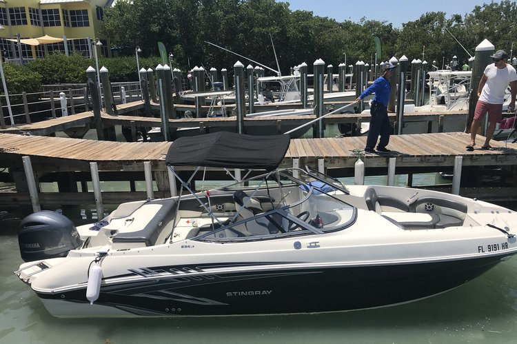 Boating is fun with a Bow rider in Key Biscayne