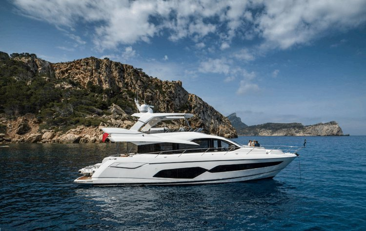 Cruise in style in Ibiza, Spain aboard Sunseeker Manhattan 66