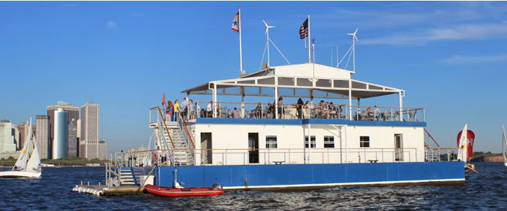 Enhance your corporate event aboard this floating clubhouse