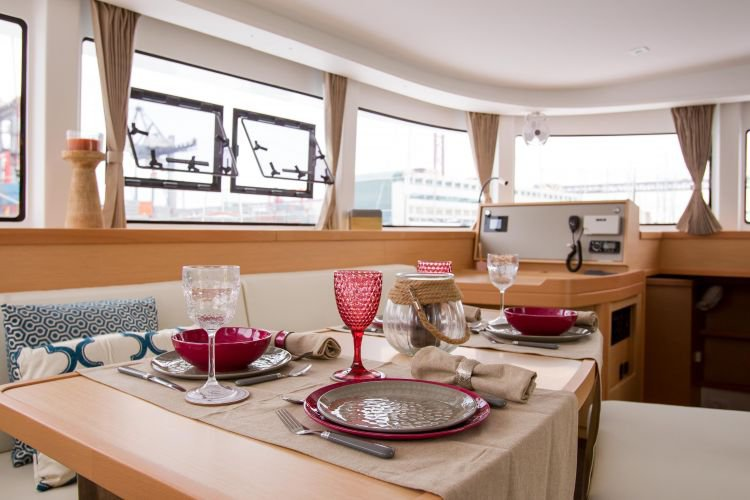 Up to 16 persons can enjoy a ride on this Catamaran boat