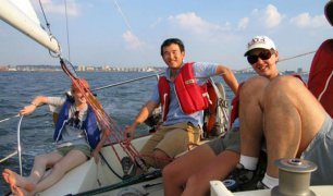 Boating is fun with a Racer in Jersey City