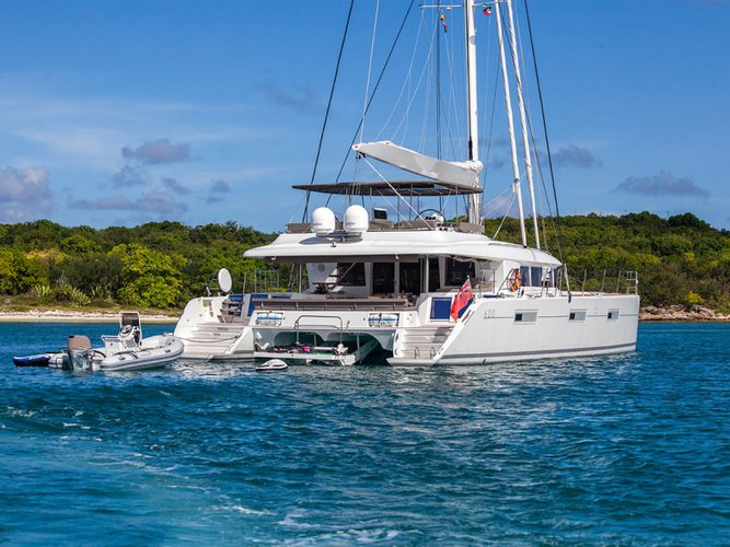 Let the wind whip through your hair aboard Lagoon 62'