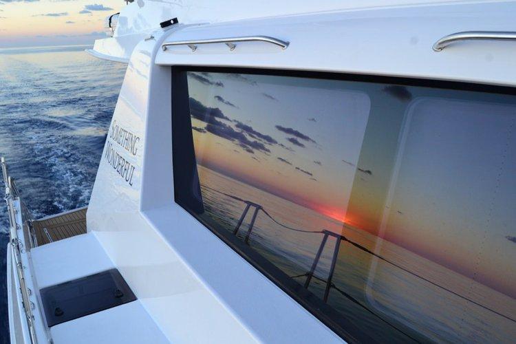 Catamaran boat for rent in Nancy Cay
