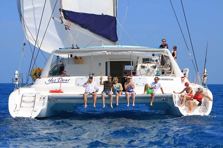 This 58.0' VOYAGE cand take up to 10 passengers around Nancy Cay