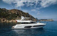 Cruise in style in Ibiza, Spain aboard Sunseeker Manhattan 66