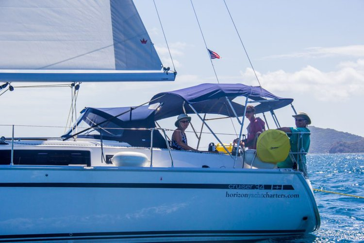 Up to 6 persons can enjoy a ride on this Bavaria boat