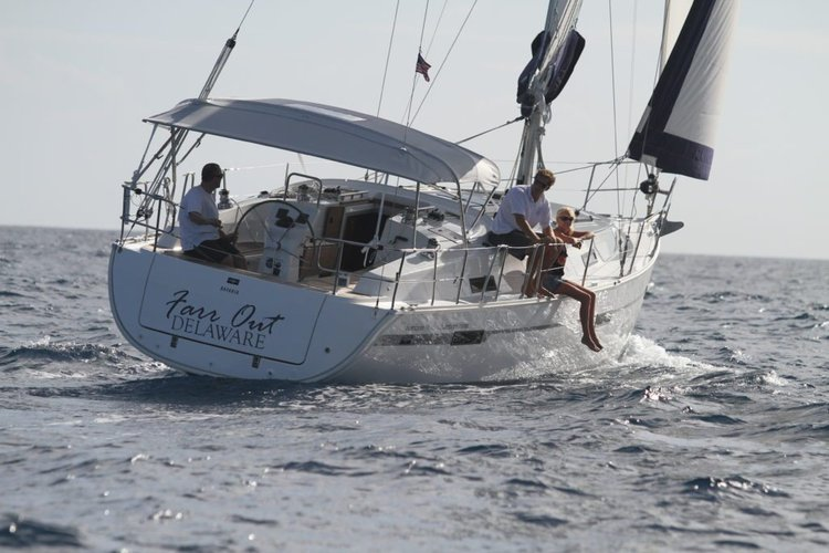 Discover Nanny Cay surroundings on this 36 Bavaria boat