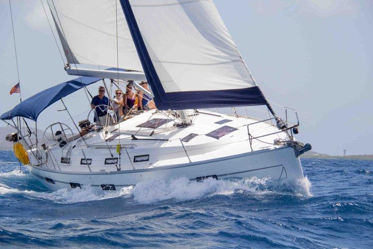 Sail through the British Virgin Islands aboard this glorious Bavaria 40 LE