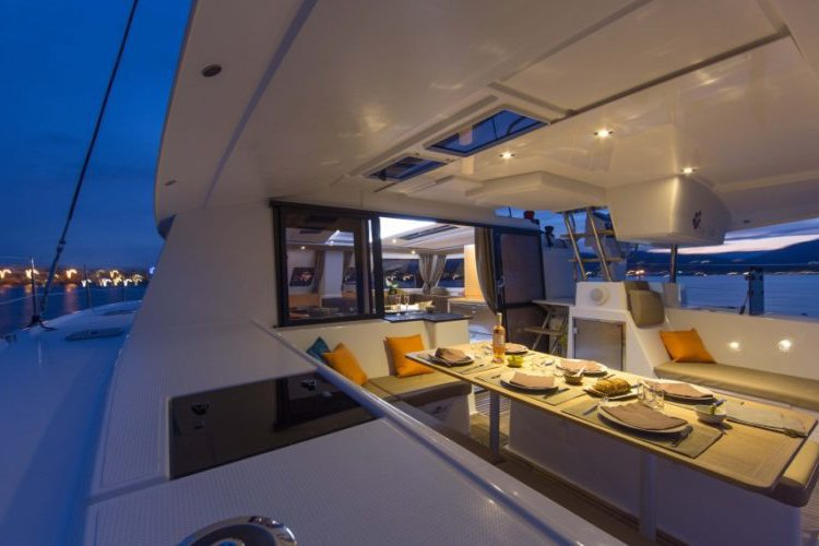 Boating is fun with a Catamaran in True Blue