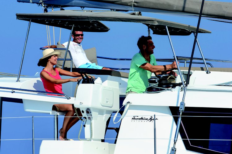 This 49.0' Fountaine-Pajot cand take up to 10 passengers around Nanny Cay