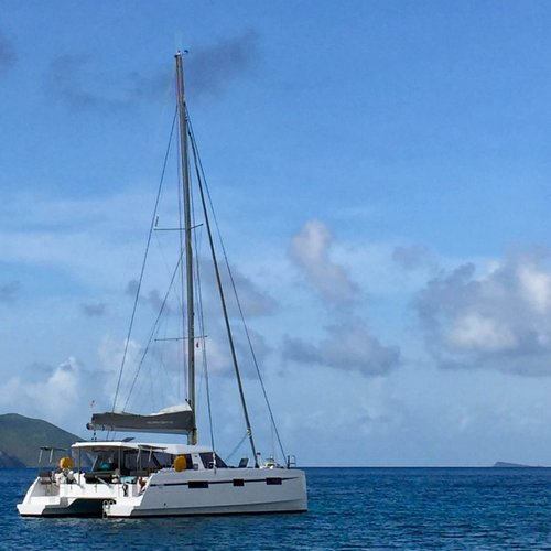 Catamaran boat for rent in Nanny Cay