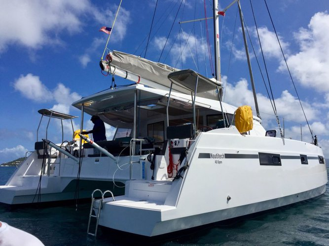 Discover Nanny Cay surroundings on this Open 40 Nautitech boat