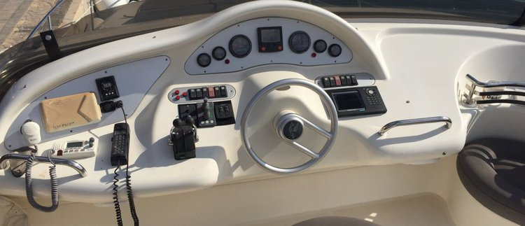 Discover St Julian's surroundings on this 46 Fly Azimut boat