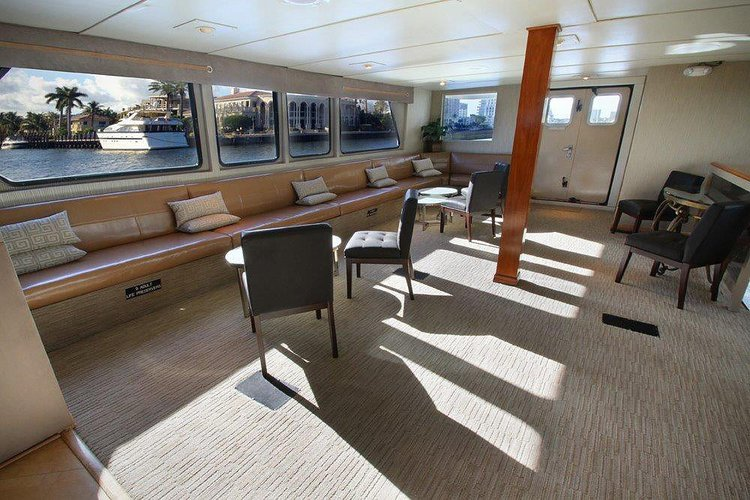 Up to 150 persons can enjoy a ride on this Mega yacht boat