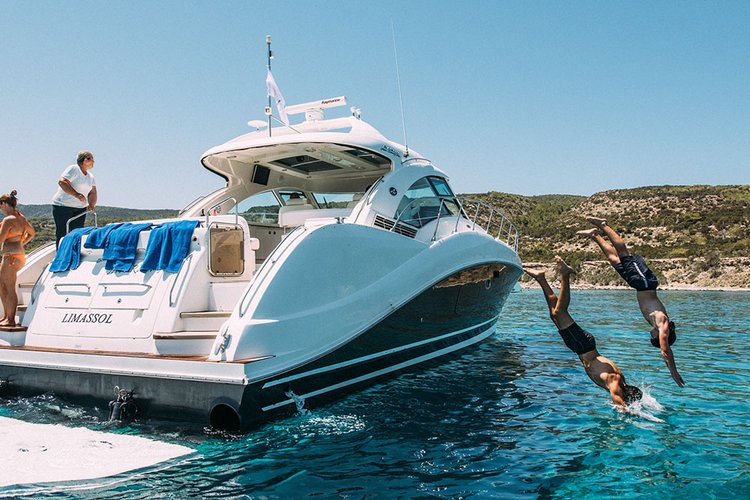 Motor yacht boat for rent in Paphos