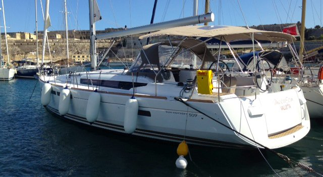 Cozy 51' cruising monohull available for skippered charter in  Gzira, Malta