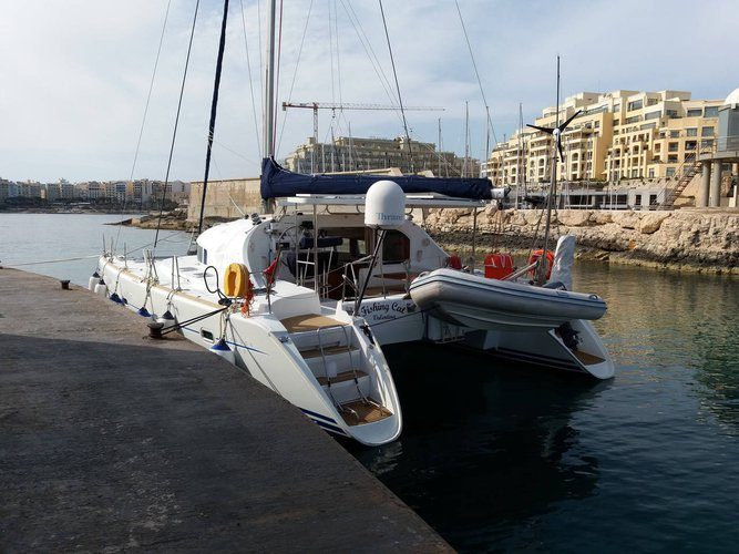 Catamaran boat rental in Comino, Malta