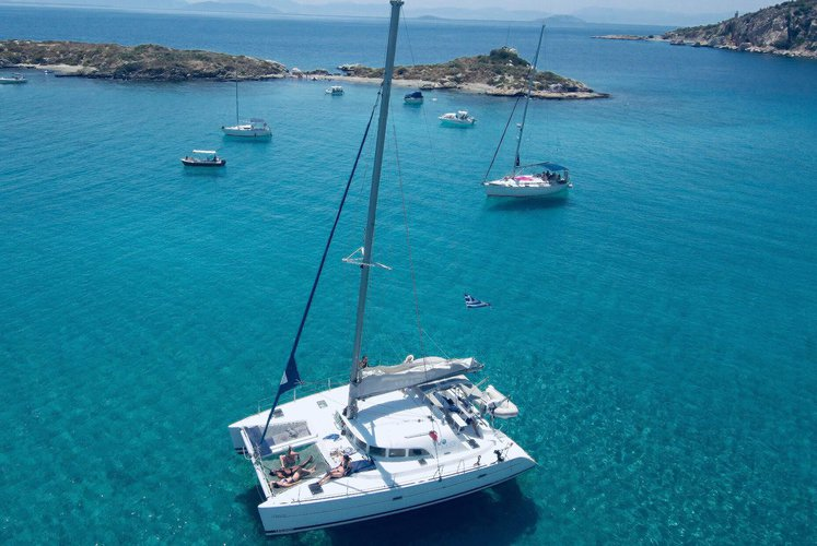 Catamaran boat rental in Alimos, Athens, Greece, Greece
