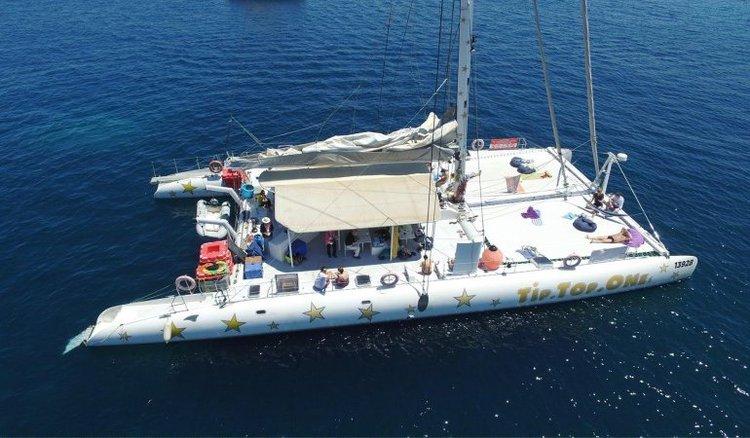 Have fun in Malta aboard this huge and comfy sailing catamaran