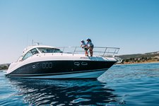 Cruise in style in Paphos, Cyprus aboard this elegant motor yacht