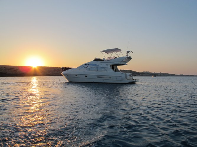 Motor yacht boat rental in Ayia Napa Harbour,