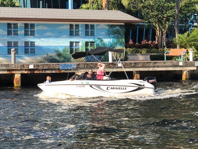 Boating is fun with a Bow rider in Fort Lauderdale