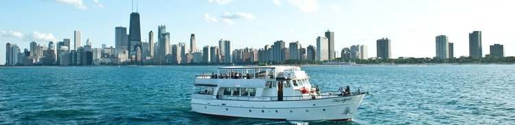 Superb party yacht available for charter in Chicago, Illinois